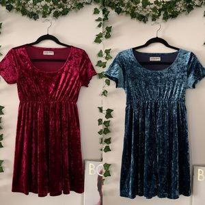 ☆ AMERICAN APPAREL VELVET BABYDOLL DRESSES ☆